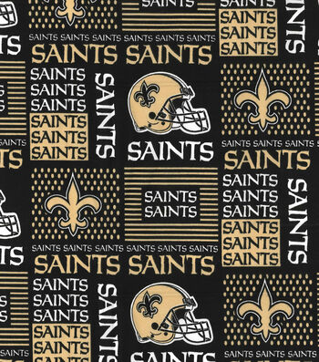 New Orleans Saints Cotton Fabric -Patch