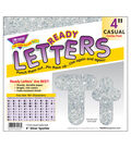 TREND Casual Uppercase/Lowercase Ready Letters Combo Pack-Silver Sparkle