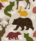 Snuggle Flannel Fabric -Fall Patterned Trap Animals