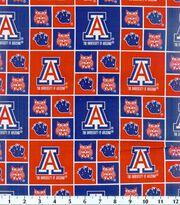 University of Arizona Wildcats Cotton Fabric 43''-Block, , hi-res