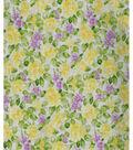 Premium Cotton Fabric -Yellow Ditsy Rose