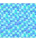 Keepsake Calico Cotton Fabric -Pastel Blues Mosaic