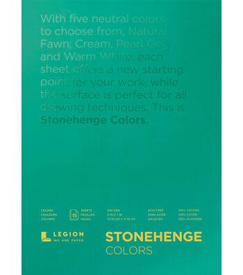 Legion Paper Stonehenge 15-sheet 5''x7'' 90 lb Paper Pad-Multicolor
