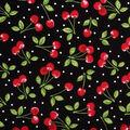 Novelty Cotton Fabric -Dots & Cherries