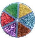 Moxy 6-Compartment Glitter Shaker Jar 2.3oz-Bright & Bold