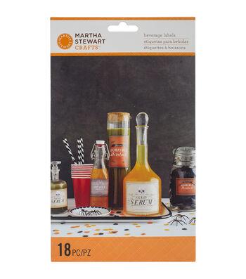 Martha Stewart CraftsAssorted Beverage Labels 18/Pkg-Spooky Night