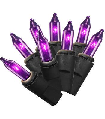 Maker's Halloween 50 ct Purple String Lights