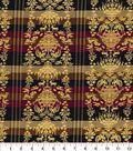 Asian Inspired Cotton Fabric 44\u0022-Damask Stripe Metallic