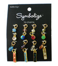 hildie & jo Symbolize 16 pk Multi Shape Gold Charms-Multicolor