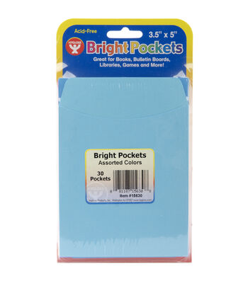 "Mighty Bright Pockets 3-1/2""X5"" 30/Pkg-Multicolor"