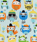 Snuggle Flannel Fabric -Sunny Owls
