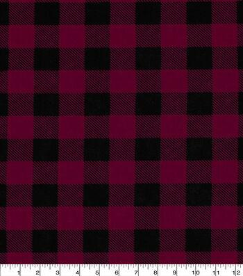 Keepsake Calico Cotton Fabric-Buffalo Check Red & Black