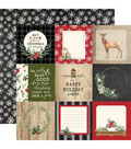 Christmas Double-Sided Cardstock 12\u0022X12\u0022-4\u0022X4\u0022 Journaling Cards