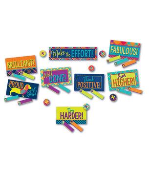 Eureka Mini Bulletin Board Set-Plaid Class Management