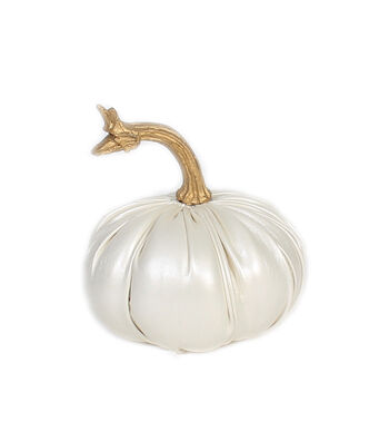 Simply Autumn Extra Small Leather Pumpkin-White