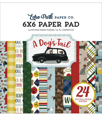 """Echo Park Double-Sided Paper Pad 6""""X6"""" 24/Pk-A Dog's Tail"""