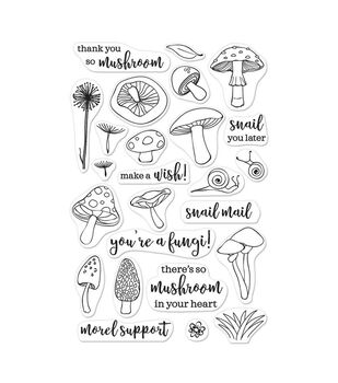 Hero Arts Clear Stamp Set Fungi
