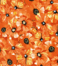 Keepsake Calico Cotton Fabric-Poppy Toss Orange