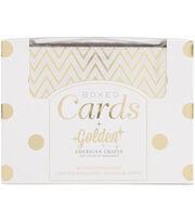American Crafts Golden Gold Foil A2 Cards & Envelopes, , hi-res
