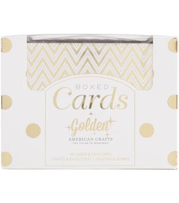 American Crafts Golden Gold Foil A2 Cards & Envelopes