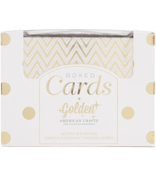 American Crafts Golden Gold Foil A2 Cards & Envelopes