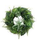 Fresh Picked Greens 24\u0027\u0027 Fern, Air Plant & Leaves Wreath