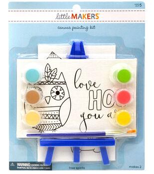 Little Makers 2Pk 4X6 Canvas Easel Kit-Owl