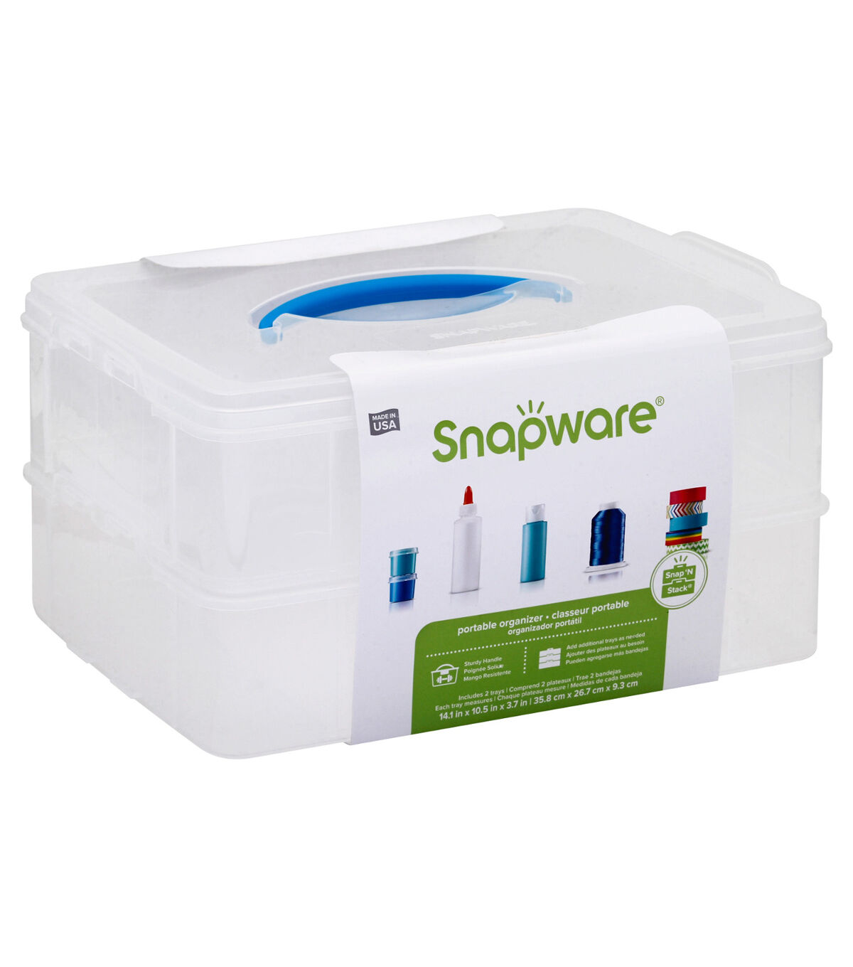 Snapware Snap N Stack 10 x 14 Rectangle with 2 layers  sc 1 st  Joann & Plastic Storage - Plastic Drawers Bins and Boxes | JOANN