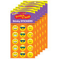 Emoji Cheer-Orange Stinky Stickers 6 Packs