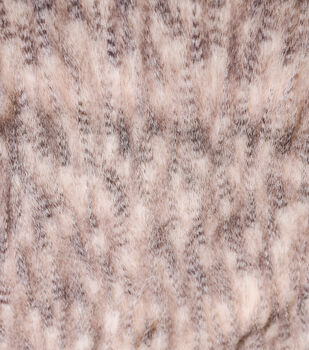 Faux Fur Fabric-Gray Feather