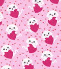 Snuggle Flannel Fabric -Kitty With Heart