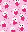 Snuggle Flannel Fabric 42\u0022-Kitty With Heart