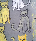 Snuggle Flannel Fabric -Yellow Alley Cat