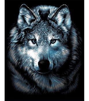 """Silver Scraperfoil Kit 8""""X10""""-Wolf"""