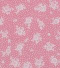 1930\u0027s Cotton Fabric 43\u0022-Dot Floral Bouquet Pink