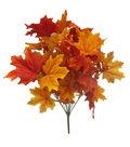Blooming Autumn Maple Leaves & Berries Bush-Yellow & Orange