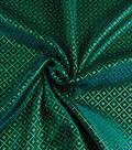 Yaya Han Cosplay Brocade Fabric 58\u0027\u0027-Emerald Japanese Geometric