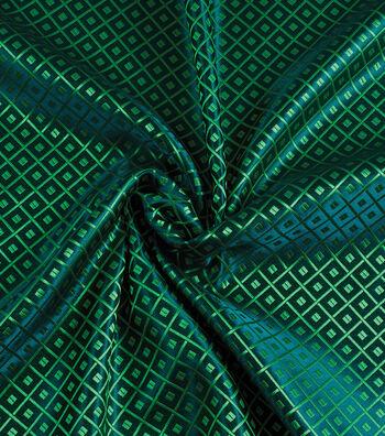 Yaya Han Cosplay Brocade Fabric 58''-Emerald Japanese Geometric