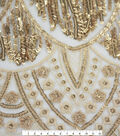 Casa Embellish Dahlia Fabric-Deco Motif with Dangle Sequins