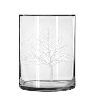 Wide Cylinder Glass Vase-Tree Decoration