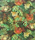 Anti-Pill Plush Fleece Fabric-Jungle Tiger