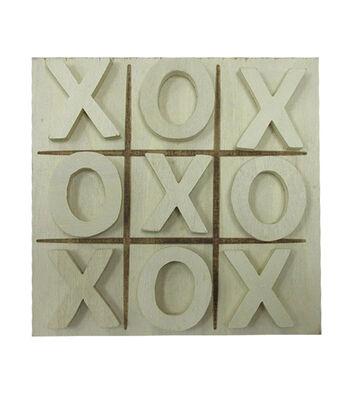 Unfinished Wood Tic Tac Toe Game