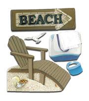 Jolee's Boutique Dimensional Sticker-Beach House, , hi-res