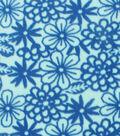 No-Sew Throw Fleece Fabric 72\u0022-Aqua