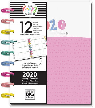 The Happy Planner Classic 2020 Dated Planner-Funky Brights Pink