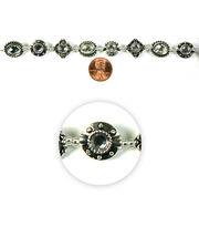 Blue Moon Strung Metal Beads,Various Shapes,Silver w/Crystals, , hi-res