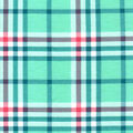 Snuggle Flannel Fabric-Ice Green Traditional Plaid