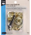 Dritz 0.44\u0022 Extra Large Eyelets Kit 10pcs Brass