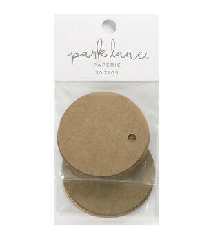 Park Lane Paperie 30 pk Small Circle Tags-Kraft