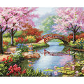 Gold Collection Japanese Garden Counted Cross Stitch Kit